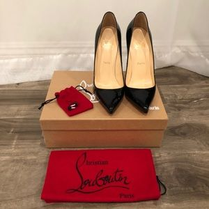 Christian Louboutin 120 Black Patent Pigalle 39